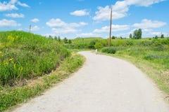 Paysage rural russe de route image stock