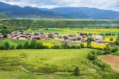 Paysage rural, Shangri-La Photos stock