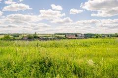 Paysage russe de village rural image libre de droits