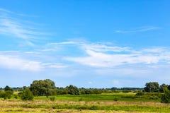 Paysage russe rural avec des prés image libre de droits