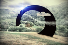 Paysage rêveur, attraction de la géométrie Photo libre de droits