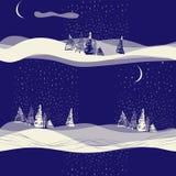 Paysage sans couture de fond d'hiver Photographie stock libre de droits