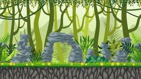 Paysage sans couture de jungle de nature illustration stock
