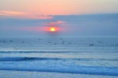 Paysage scénique de côte de Bali Photos stock