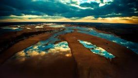 Paysage scénique de lacs, photo aérienne