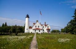 Paysage scénique de phare du Michigan photographie stock libre de droits