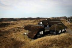 Paysage scénique près de Blavand, Danemark Photo stock