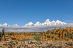 Paysage scénique d'automne de Teton Photographie stock libre de droits