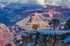 Paysage scénique Grand Canyon d'hiver Image stock