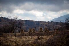 Paysage serbe tranquille de campagne images libres de droits