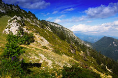 Paysage simple de montagnes Photographie stock libre de droits