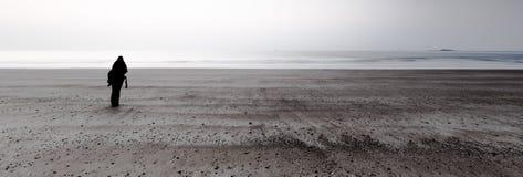 Paysage simple sur la côte Photo stock