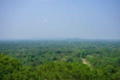 Paysage sri-lankais - regardez la roche de Sigiriya de forme, Sri Lanka, photos stock