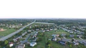 Paysage suburbain aérien 3 de l'Ohio banque de vidéos