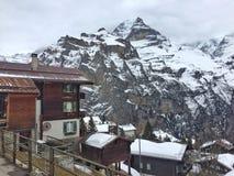 Paysage suisse de montagne Images stock