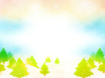 Paysage Sunny Background de Noël d'arbres d'hiver illustration libre de droits