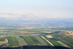 Paysage supérieur de la Galilée, Israël Photos stock