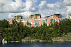 Paysage sur l'archipel de Stockholm Photographie stock libre de droits