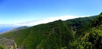Paysage sur la côte du nord de Lapalma d'île Photo stock