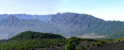 Paysage sur la côte ouest de Lapalma d'île Image libre de droits