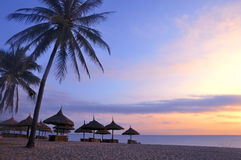 Paysage sur la plage Photos libres de droits