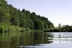 Paysage sur la rivière Images libres de droits