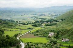 Paysage sur la route de Sichuan en Chine Images stock