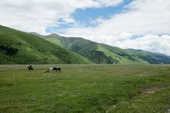 Paysage sur la route de Sichuan en Chine Photo stock