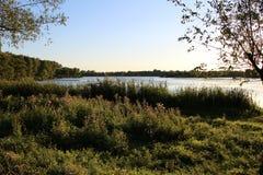 Paysage sur le lac Photo stock