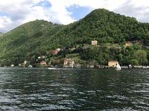 Paysage sur le lac Images libres de droits