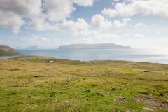 Paysage sur les Iles Féroé images libres de droits