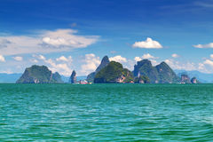 Paysage étonnant de stationnement national sur le compartiment de Phang Nga Photographie stock libre de droits
