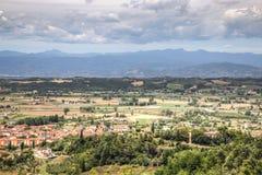 Paysage toscan à San Miniato, Italie Image libre de droits