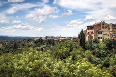 Paysage toscan à San Miniato, Italie Photographie stock libre de droits