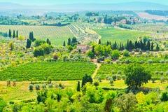 Paysage toscan Images libres de droits