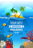 Paysage tropical Image stock