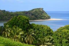 Paysage tropical d'île des Fidji-Kadavu Images stock