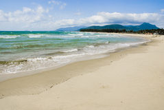 Paysage tropical de plage, île de Hainan de la Chine Photo libre de droits