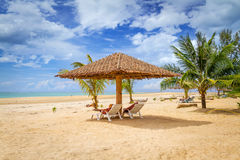 Paysage tropical de plage Photos libres de droits