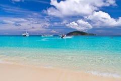 Paysage tropical des îles de Similan Image stock