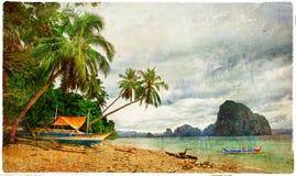 Paysage tropical - rétro photo dénommée artistique Photographie stock