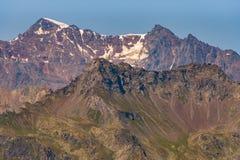 Paysage typique de montagne sur les dolomites italiennes photographie stock