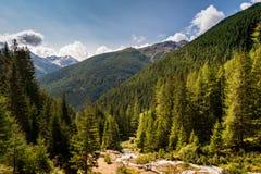 Paysage typique de montagne sur les dolomites italiennes image libre de droits