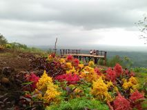 Paysage un après-midi nuageux à un site touristique de parc photo libre de droits
