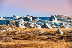 Paysage unique de Nova Scotia côtière Photographie stock