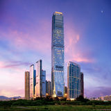 Paysage urbain étonnant de Hong Kong Image stock