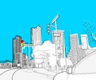 Paysage urbain Images libres de droits