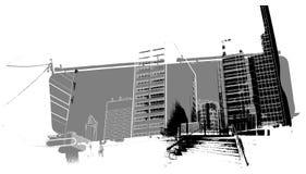 Paysage urbain Photo libre de droits