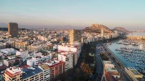Paysage urbain aérien d'Alicante de photo Blanca de côte, Espagne image stock