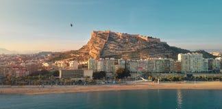 Paysage urbain aérien d'Alicante de photo Blanca de côte, Espagne images libres de droits